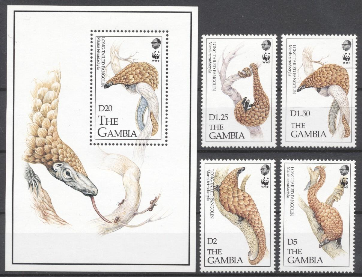 Stamps with WWF, Armadillo from Gambia (image for product #252140)