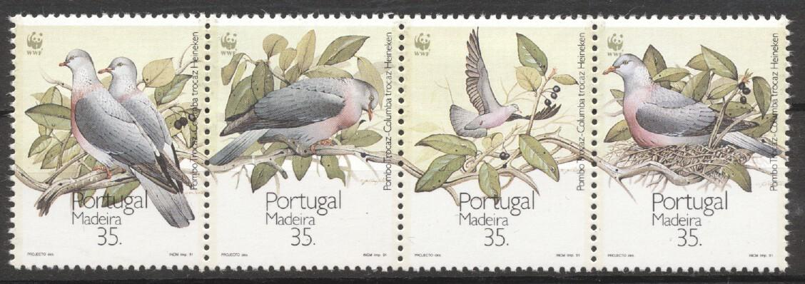 Stamps with Bird, WWF from Portugal (Madeira) (image for product #252148)