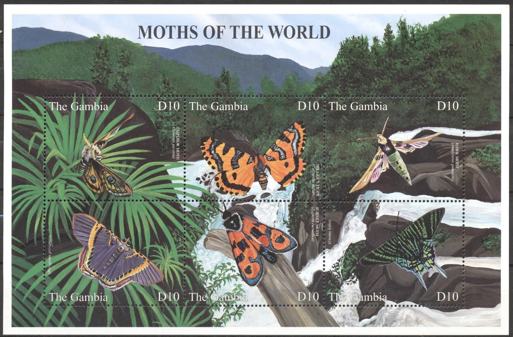Stamps with Butterflies from Gambia (image for product #252426)
