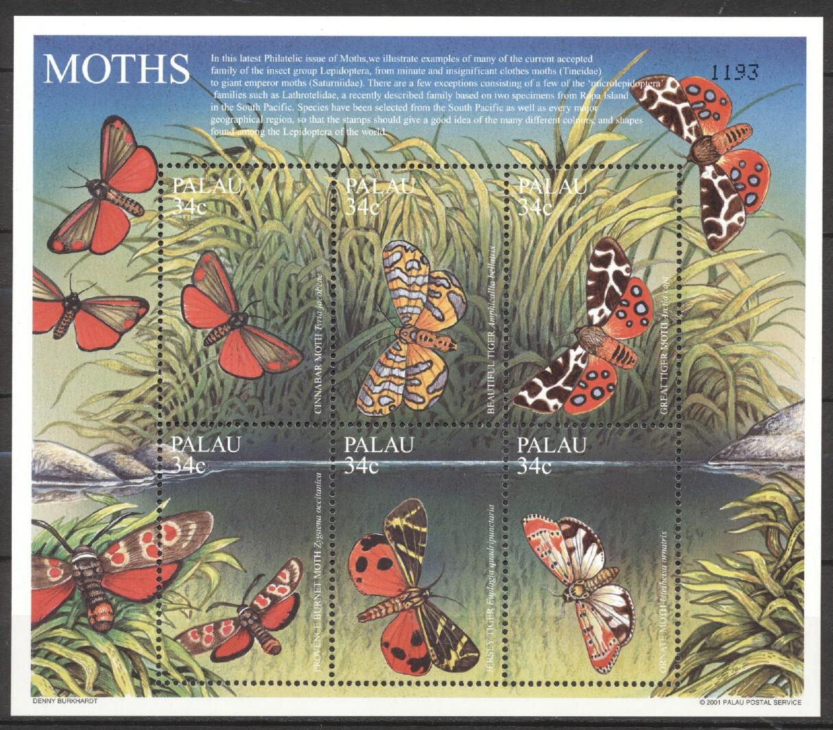Stamps with Butterflies from Palau (image for product #252474)