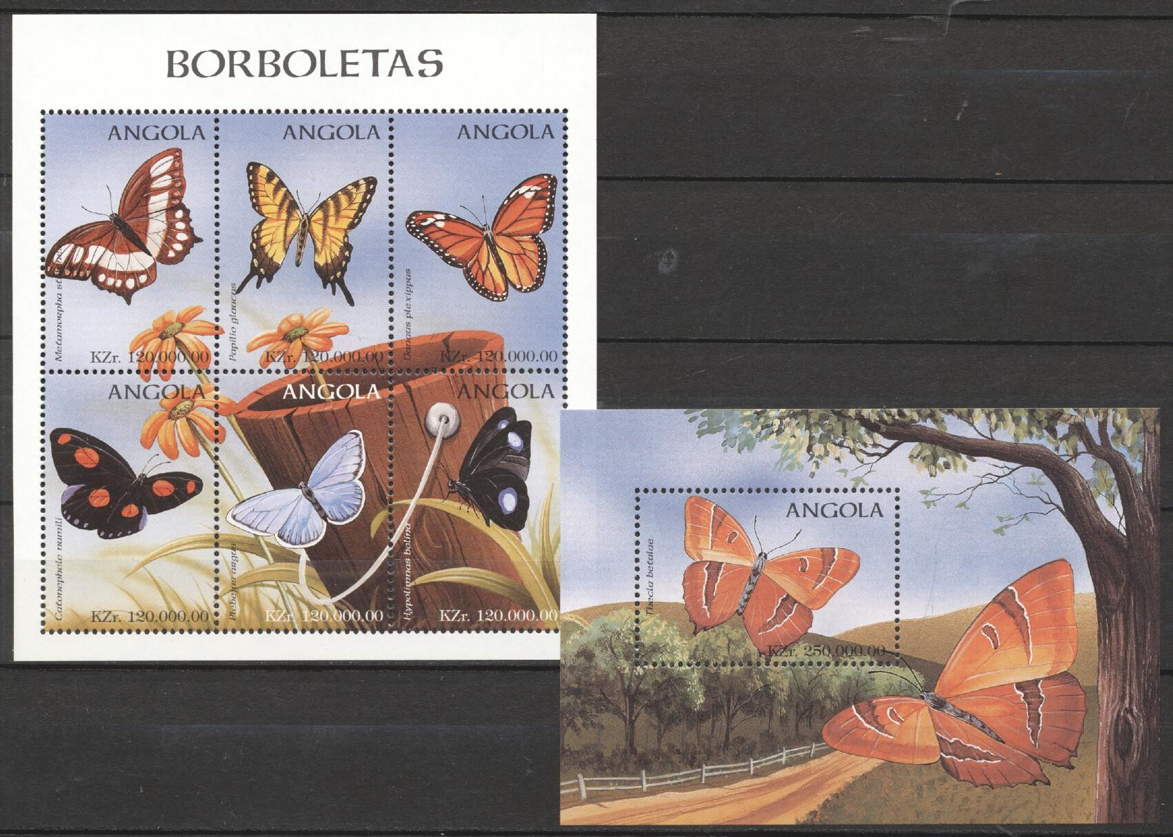Stamps with Butterflies from Angola (image for product #252516)
