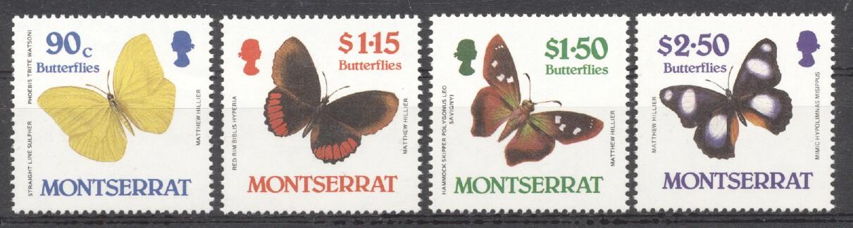 Stamps with Butterflies from Montserrat (image for product #252547)