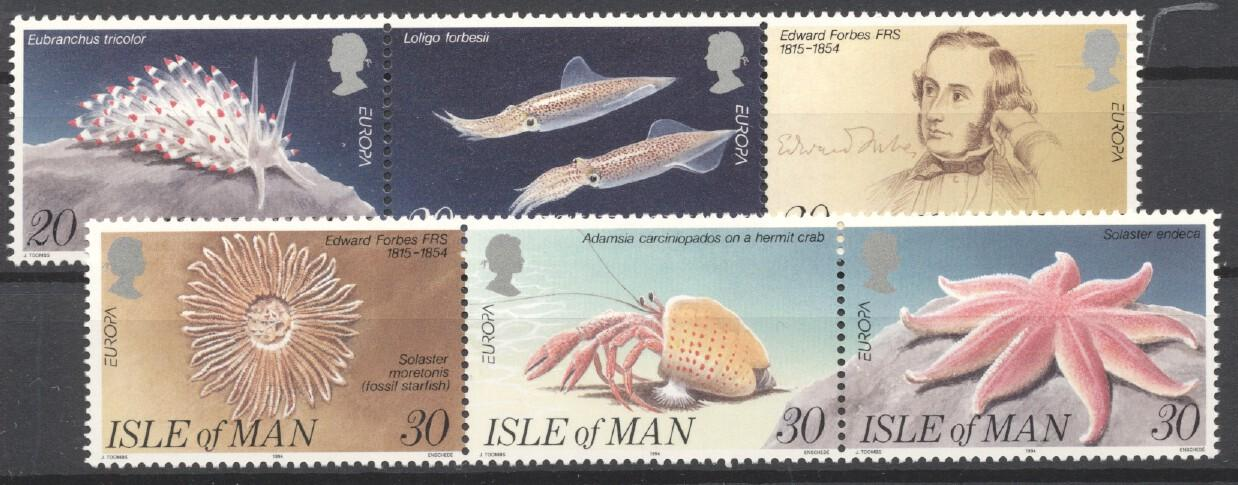 Stamps with Fish from Isle of Man (image for product #252872)