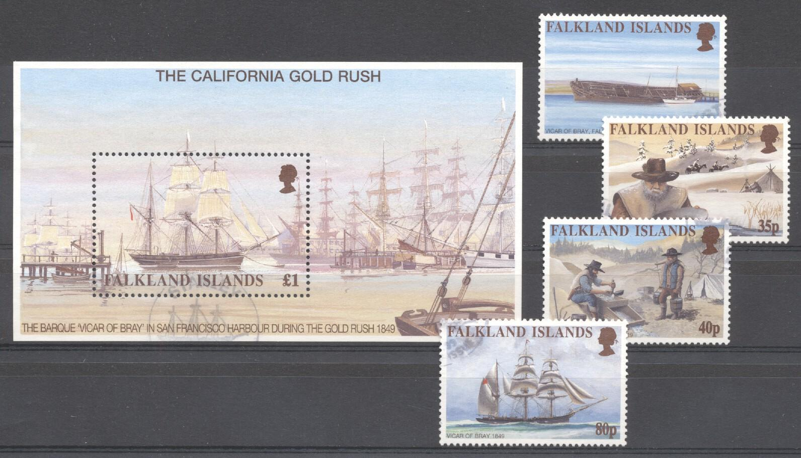 Stamps with Ship, History from Falkland Islands (image for product #254027)