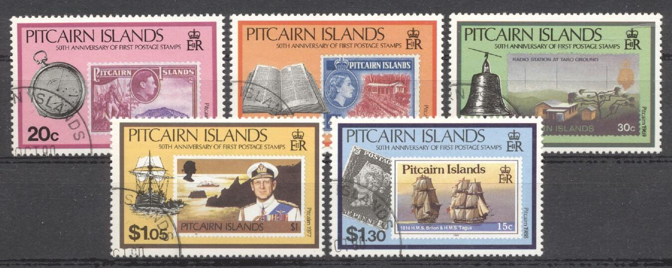 Stamps with Ship, Stamp on Stamp from Pitcairn (image for product #254149)