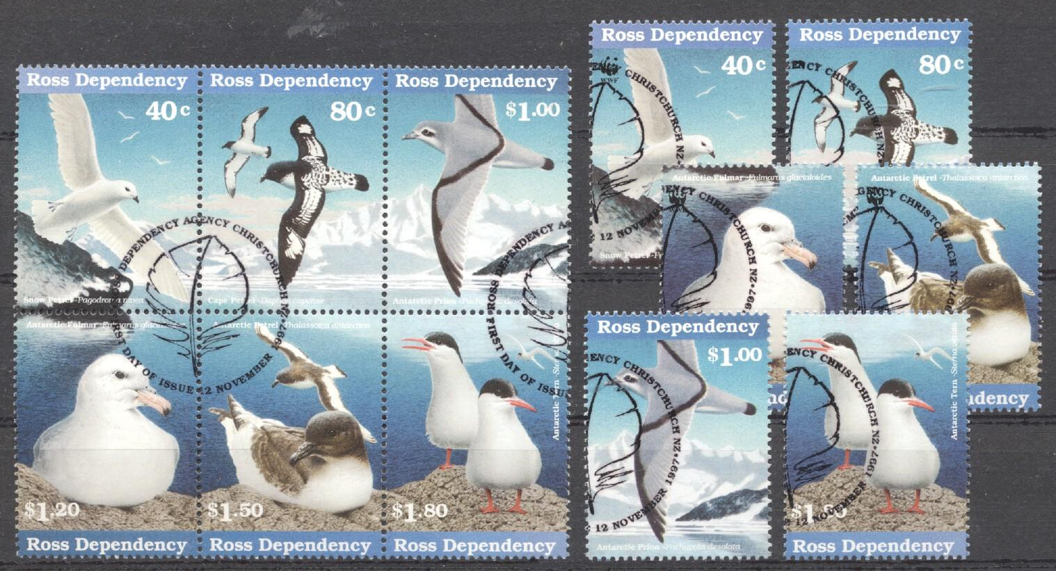 Stamps with Bird, WWF, Antarctics from Ross Dependency (image for product #254175)