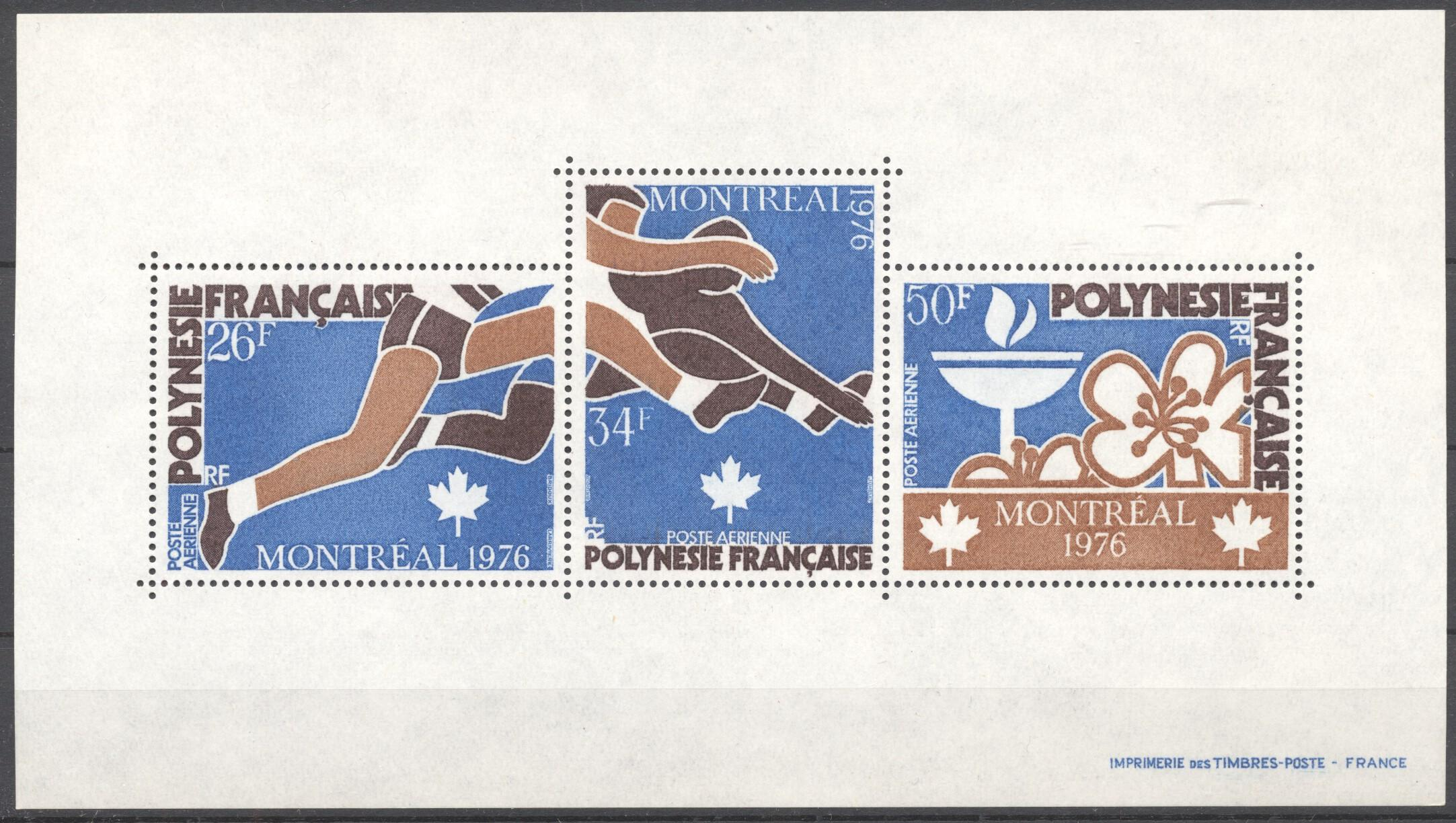 Stamps with Sports, Olympic Games from Polynesia Fr. (image for product #254603)
