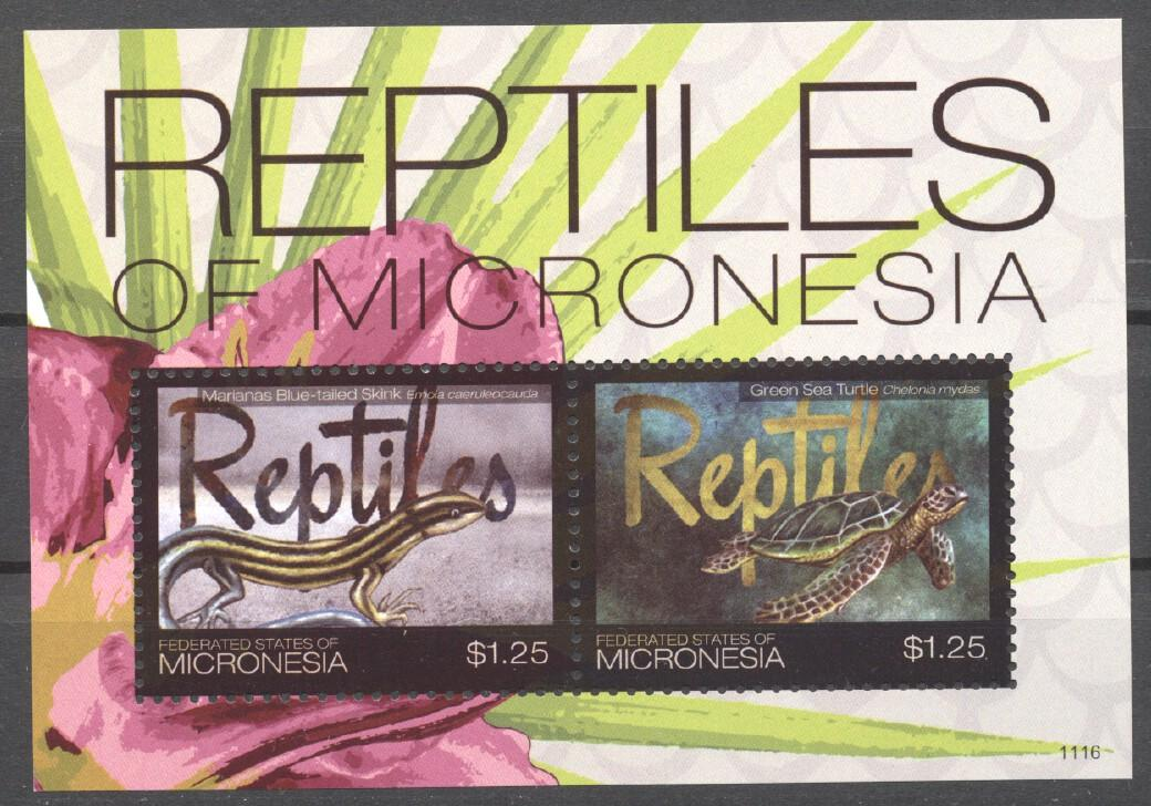 Stamps with Turtle, Lizard from Micronesia (image for product #255038)