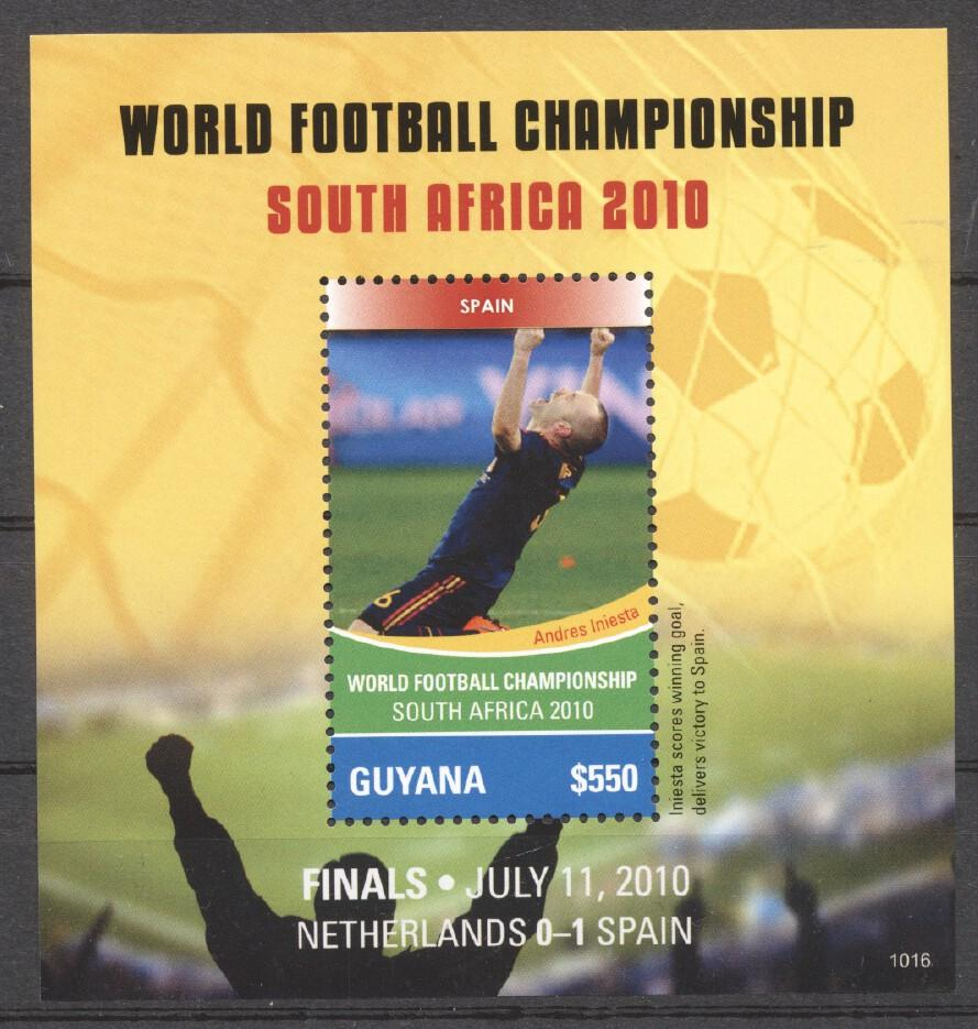 Stamps with Soccer from Guyana (image for product #255176)