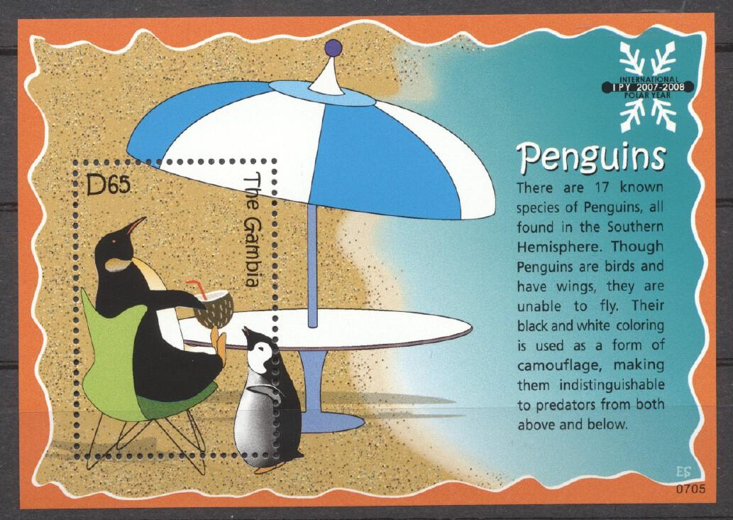 Stamps with Penguin from Gambia (image for product #255230)