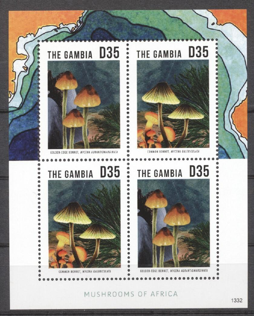 Stamps with Mushrooms from Gambia (image for product #255232)