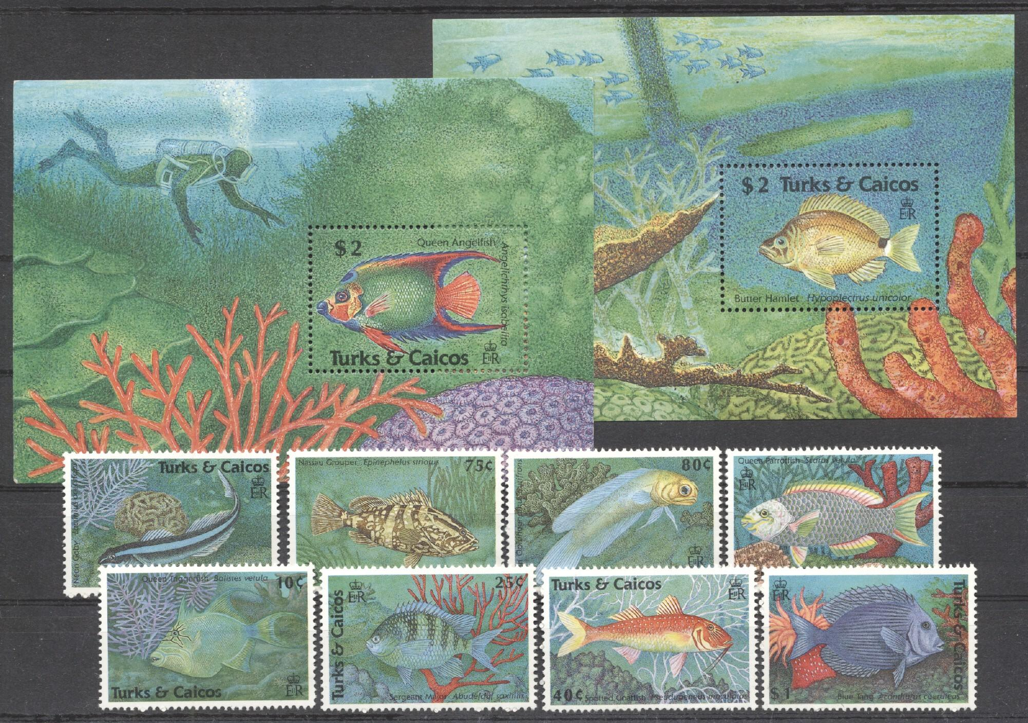 Stamps with Fish from Turks & Caicos Islands (image for product #255282)