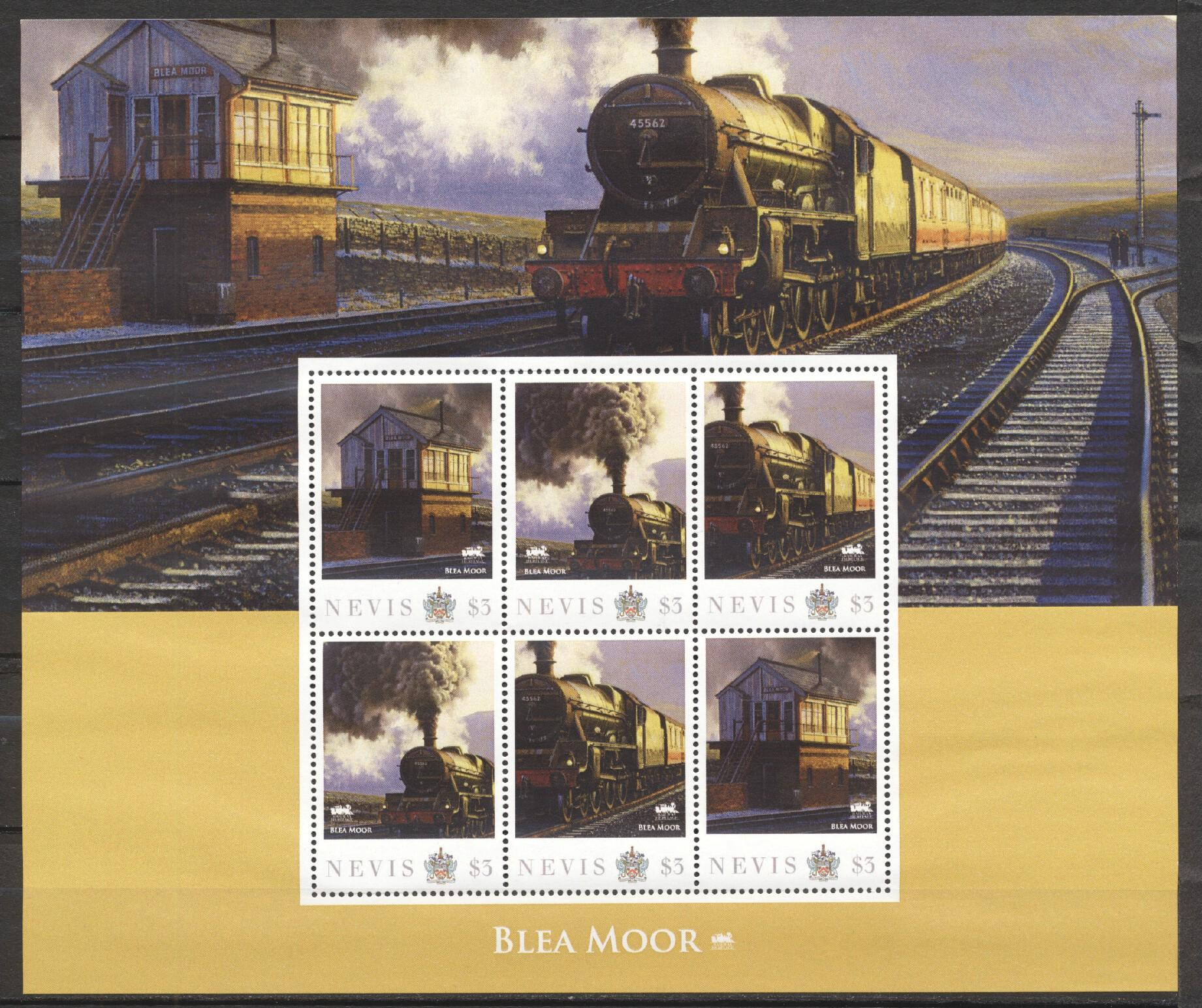 Stamps with Train / Railway from Nevis (image for product #256710)