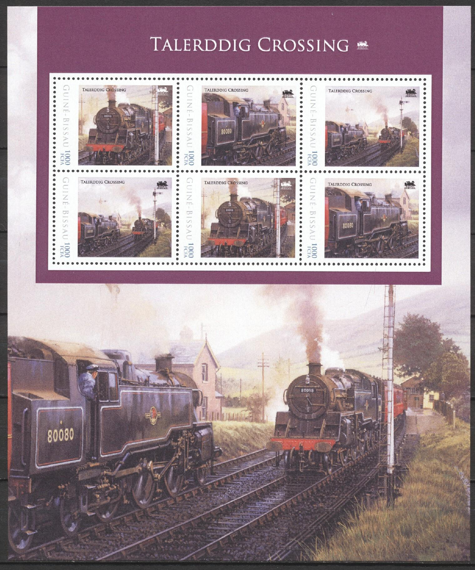 Stamps with Train / Railway from Guinea-Bissau (image for product #256804)