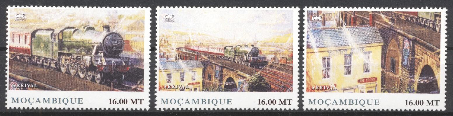 Stamps with Train / Railway from Mozambique (image for product #256877)
