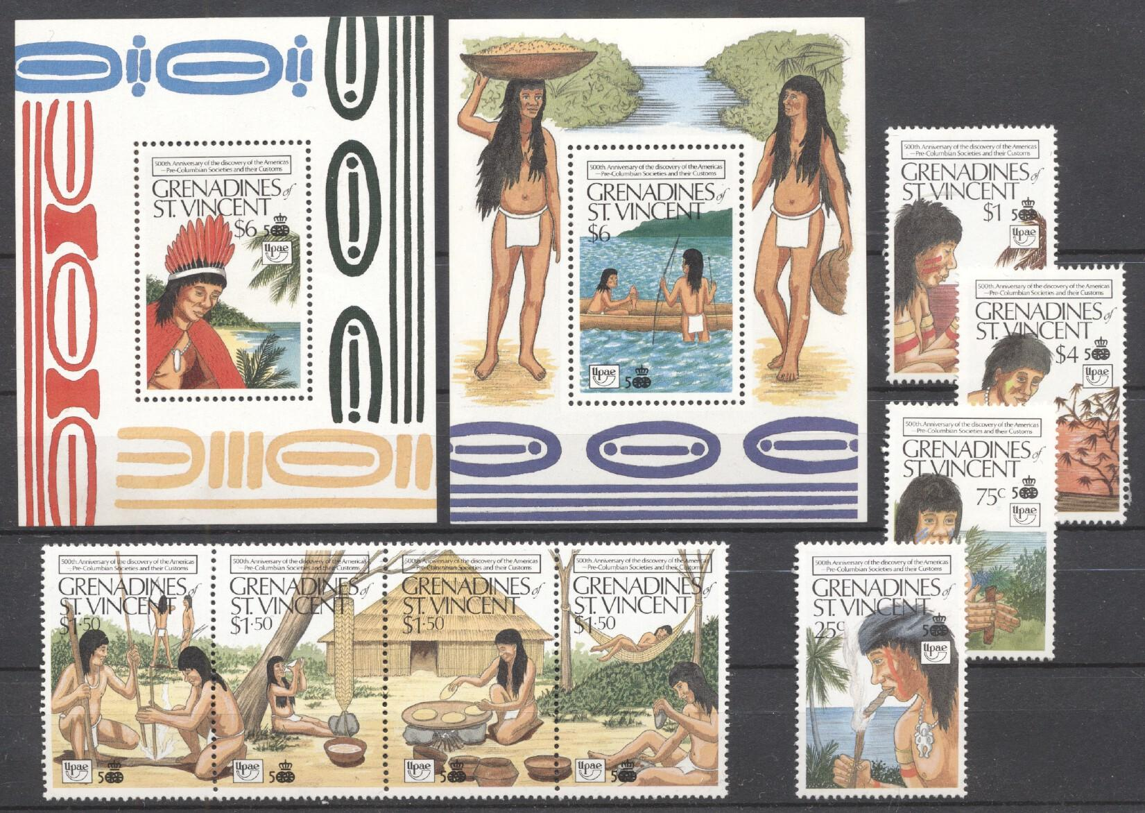 Stamps with Explorers, Culture from St. Vincent (image for product #257415)