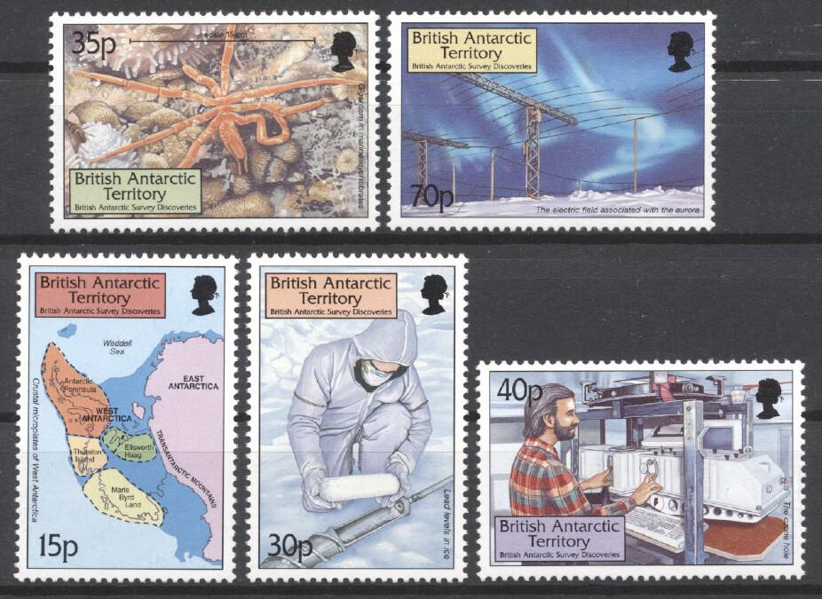 Stamps with Map, Antarctics, Sea Star from British Antarctic Territory (image for product #258756)