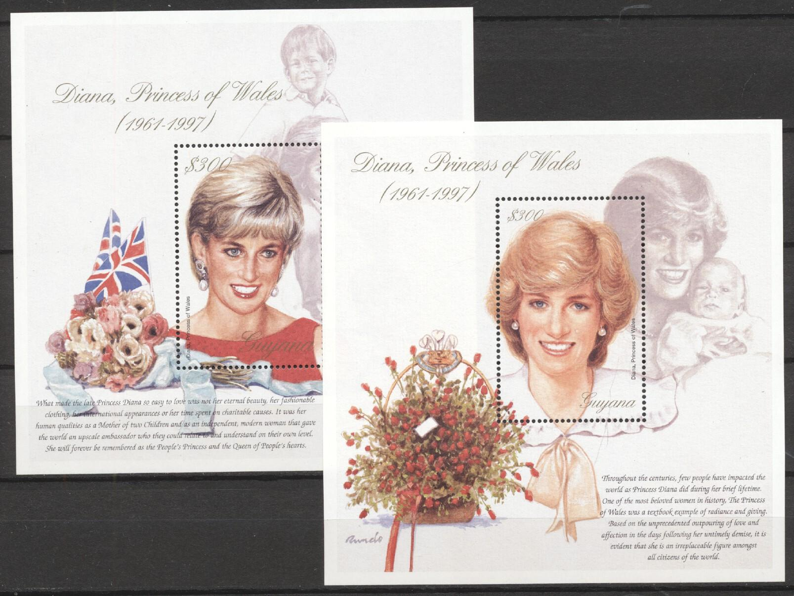 Stamps with Royalty, Diana from Guyana (image for product #259061)