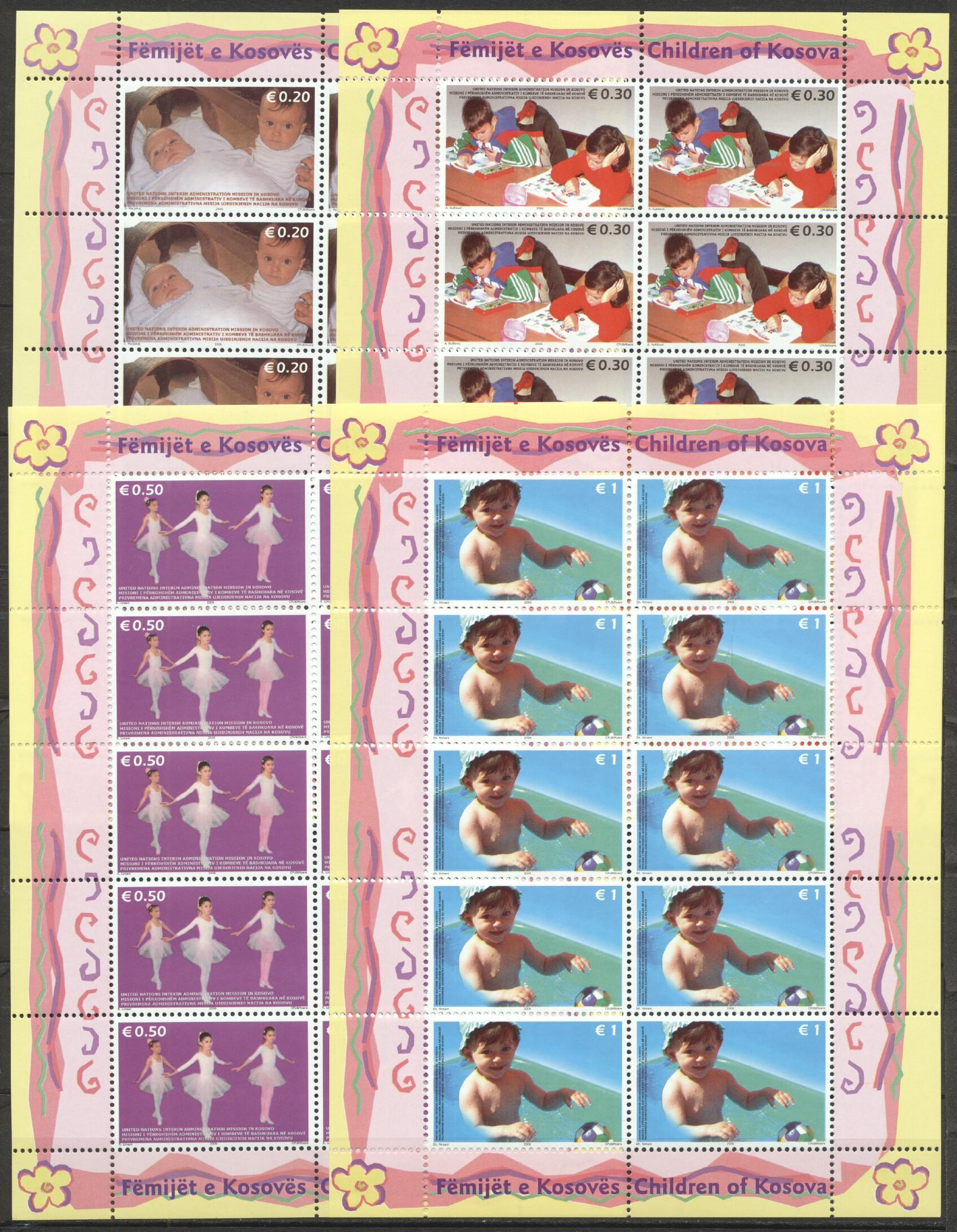 Stamps with Ballet, Voor het Kind from Kosovo (image for product #259582)