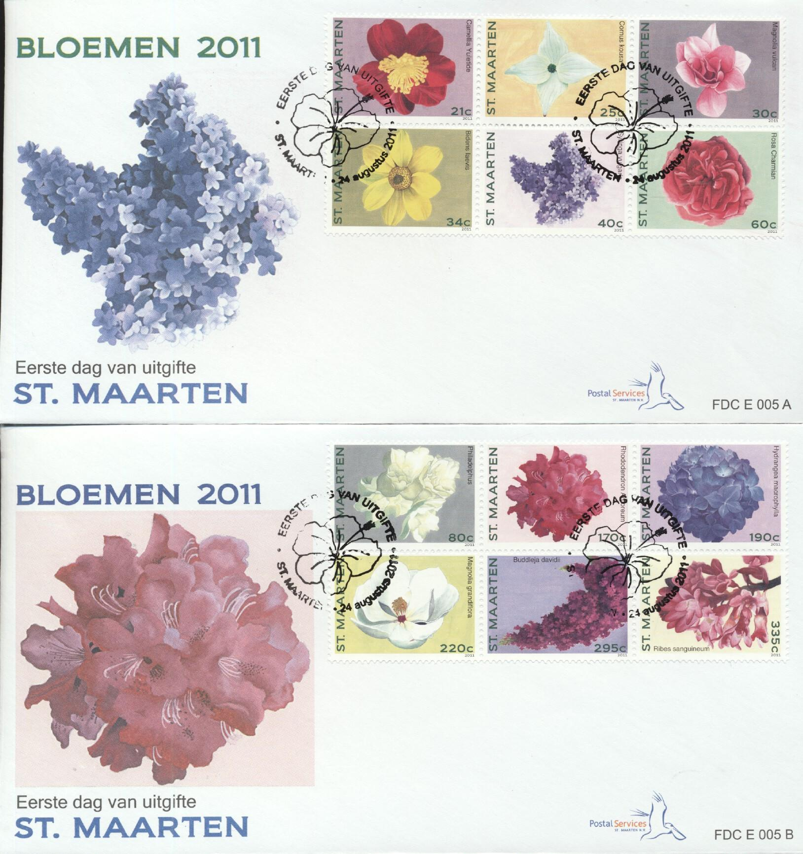 Stamps with Flowers from Dutch Colonies (image for product #261135)