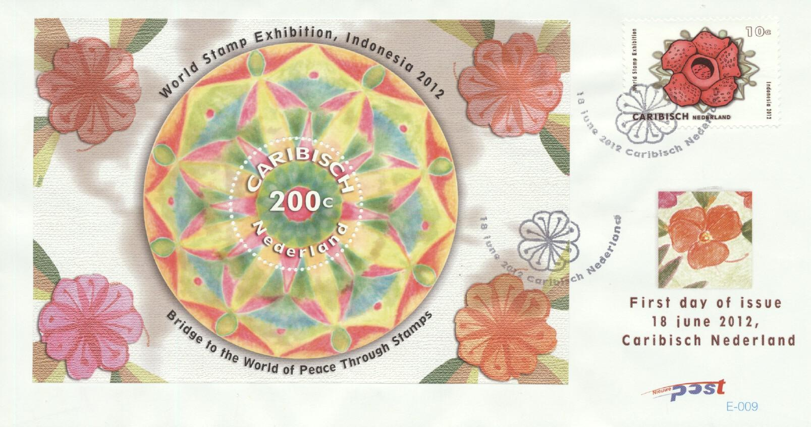 Stamps with Flowers, Philatelic Exhibition from Dutch Colonies (image for product #261175)