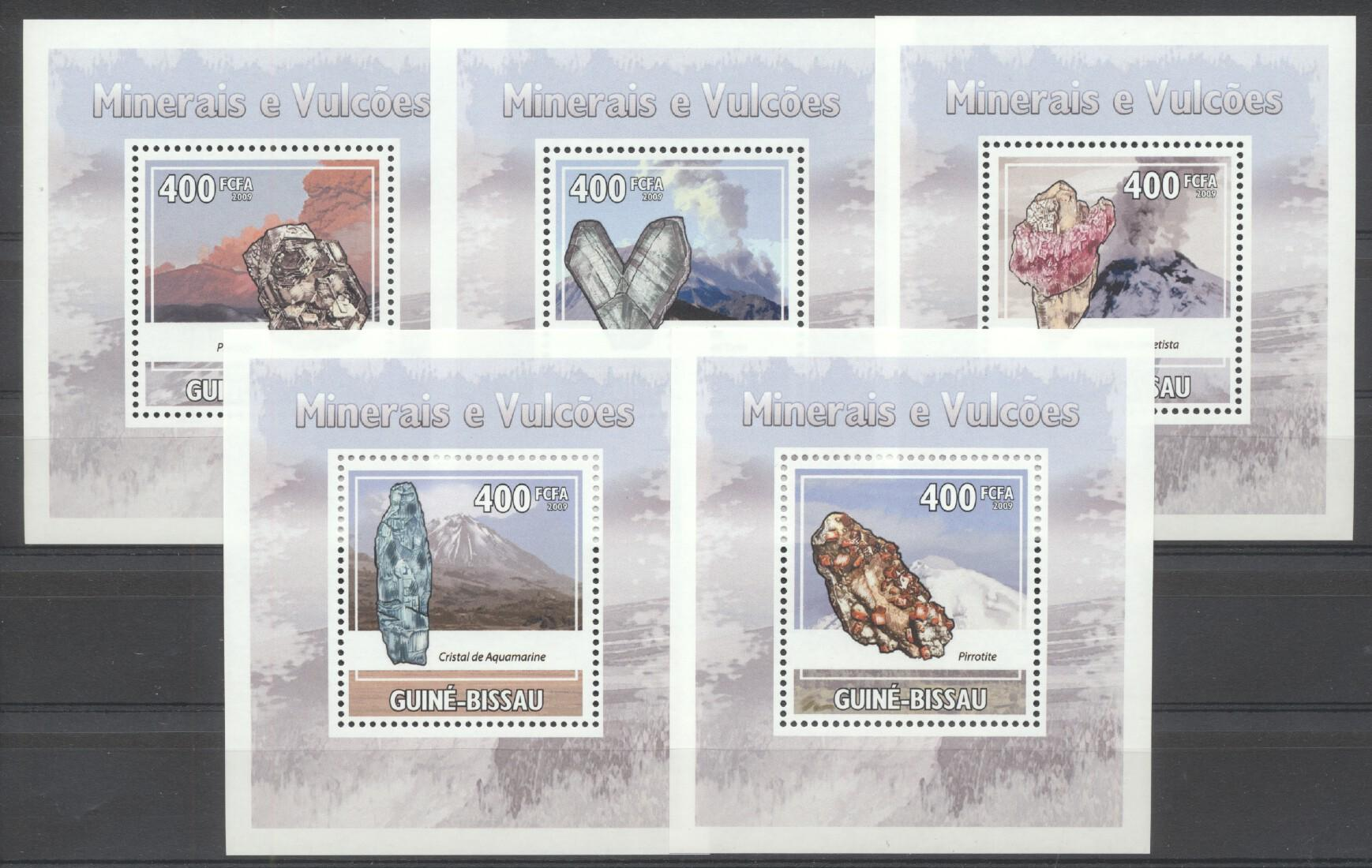 Stamps with Minerals, Volcano from Guinea-Bissau (image for product #261880)