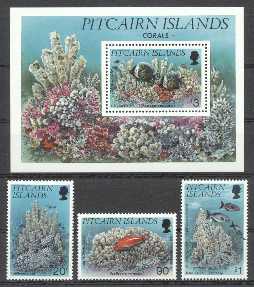 Stamps with Fish, Corals from Pitcairn (image for product #262957)