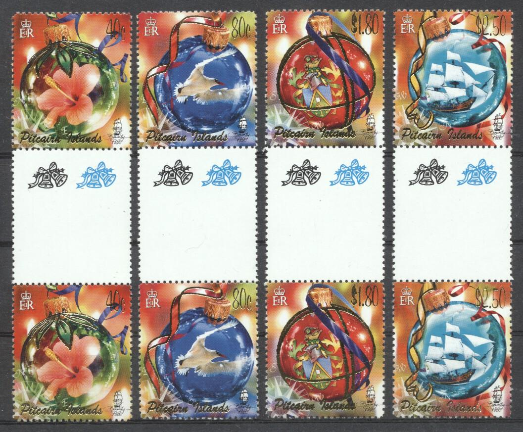 Stamps with Flowers, Bird, Christmas, Ship from Pitcairn (image for product #263009)