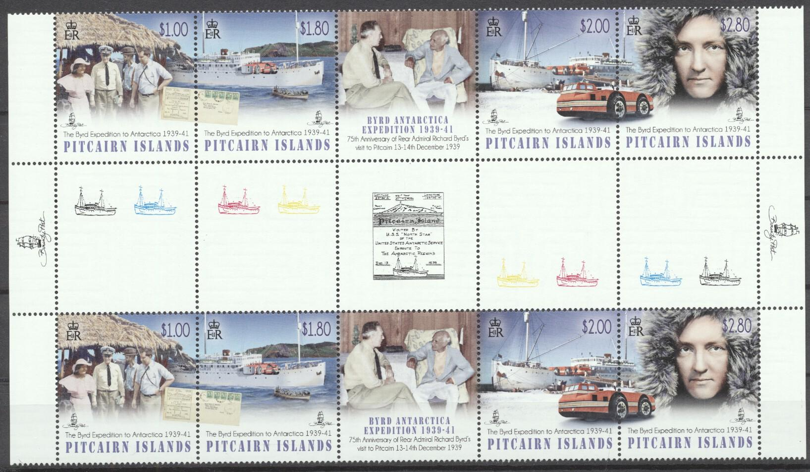 Stamps with Explorers, Tourism, Antarctics from Pitcairn (image for product #263127)