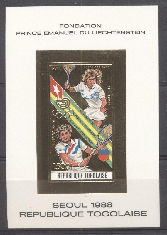 Stamps with Olympic Games, Tennis from Togo (image for product #265486)