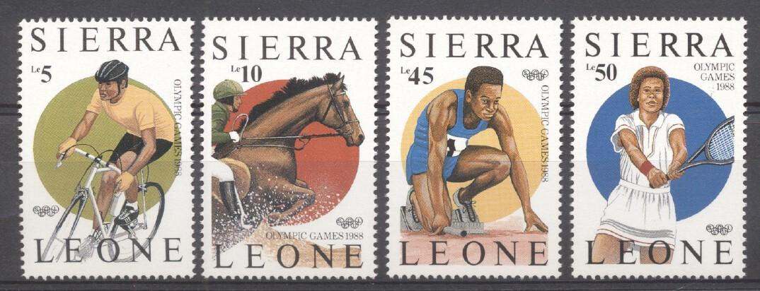 Stamps with Sports, Olympic Games, Tennis from Sierra Leone (image for product #265502)