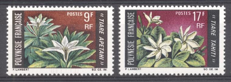 Stamps with Flowers from Polynesia Fr. (image for product #266617)
