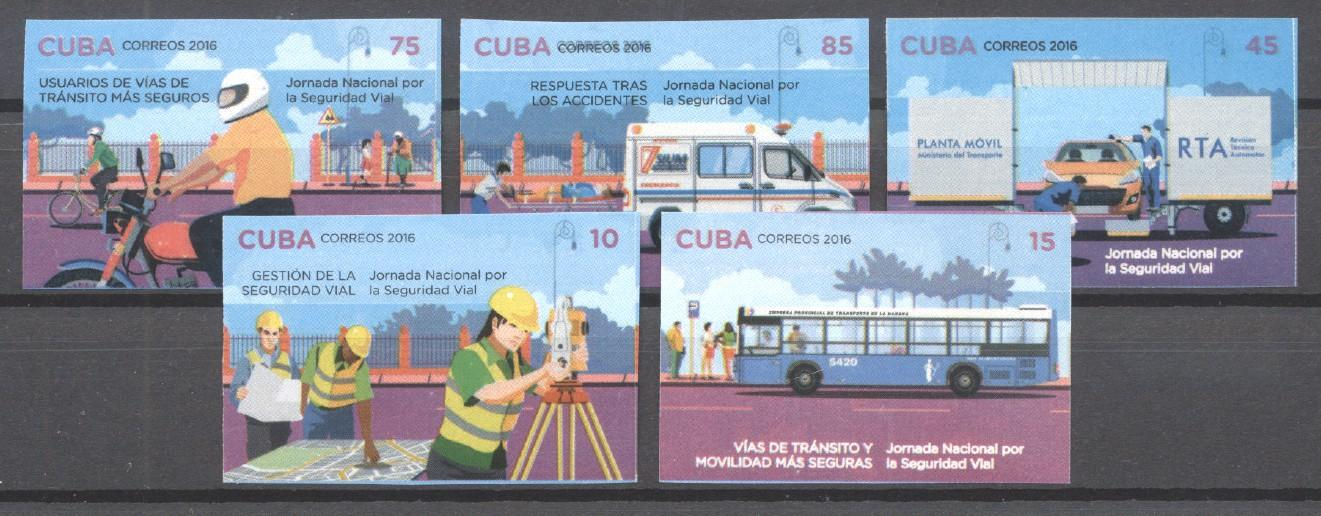 Stamps with Bicycle, Motorcycle, Bus, Ambulance from Cuba (image for product #269919)