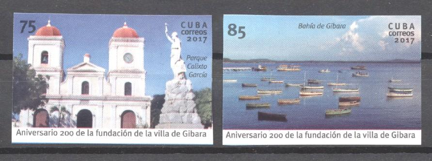 Stamps with Ship, Cathedral from Cuba (image for product #269927)