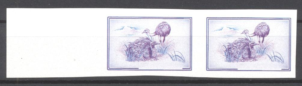 Stamps with WWF, Ostrich from Uruguay (image for product #271547)