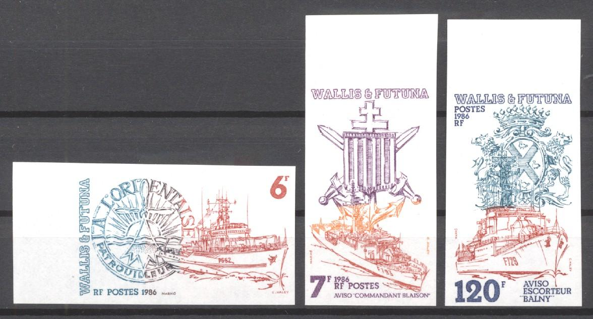 Stamps with Ship, Army from Wallis & Futuna (image for product #271912)
