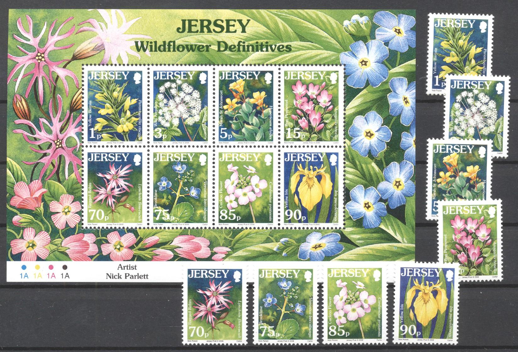 Stamps with Flowers from Jersey (image for product #272641)