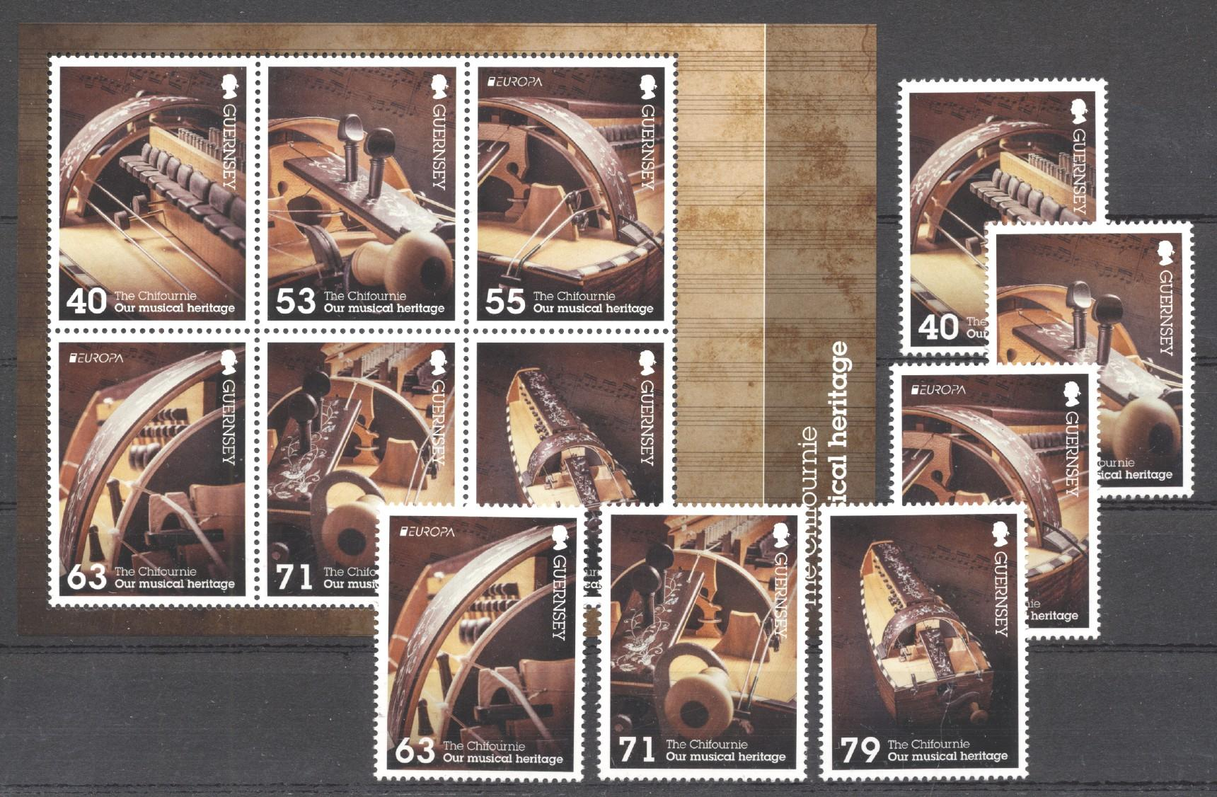 Stamps with Music, Music Instruments from Guernsey (image for product #272886)