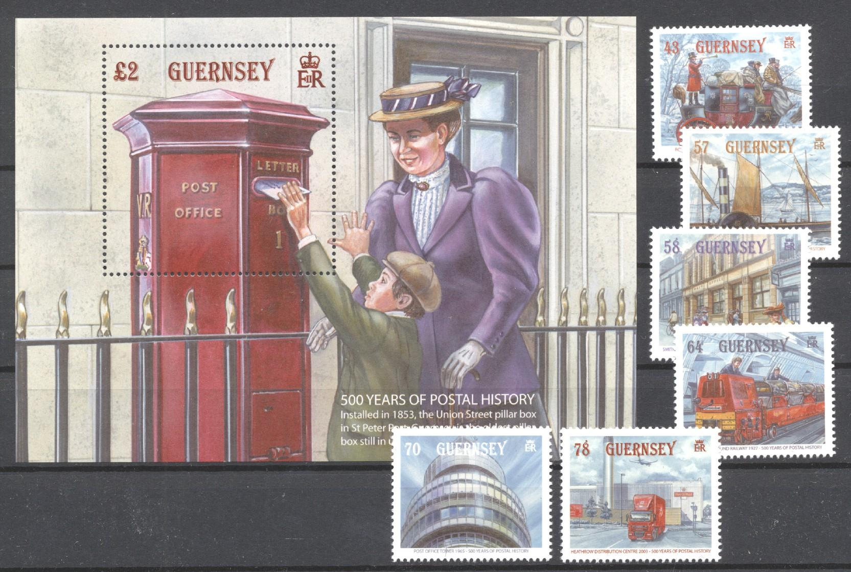 Stamps with Train / Railway, Mailbox, Postal Service from Guernsey (image for product #272913)