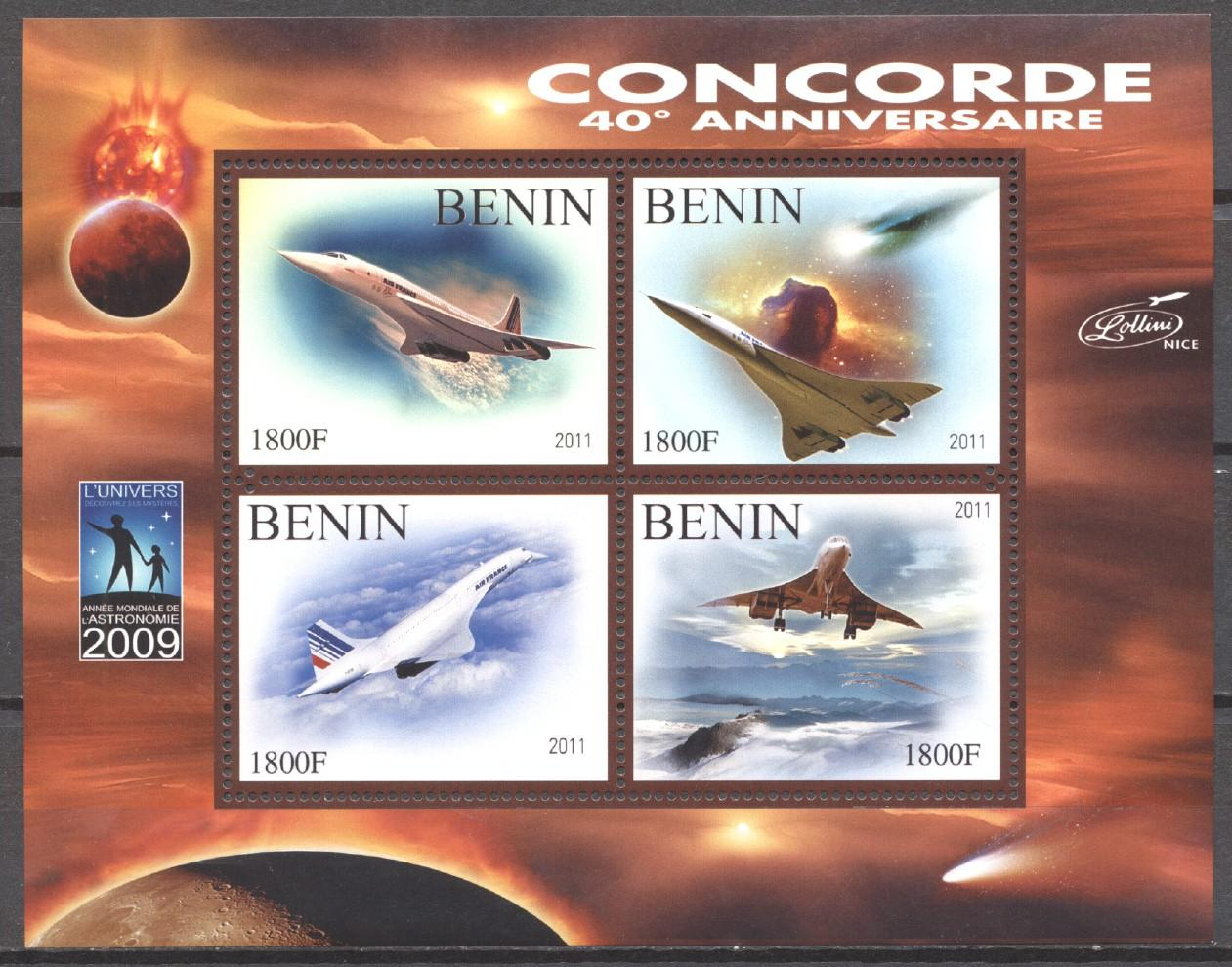 Stamps with Aircraft, Concorde from Benin (non official) (image for product #273737)