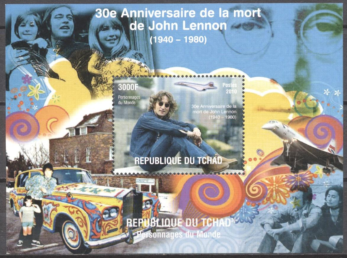 Stamps with Aircraft, Concorde, Beatles from Chad (non official) (image for product #273756)
