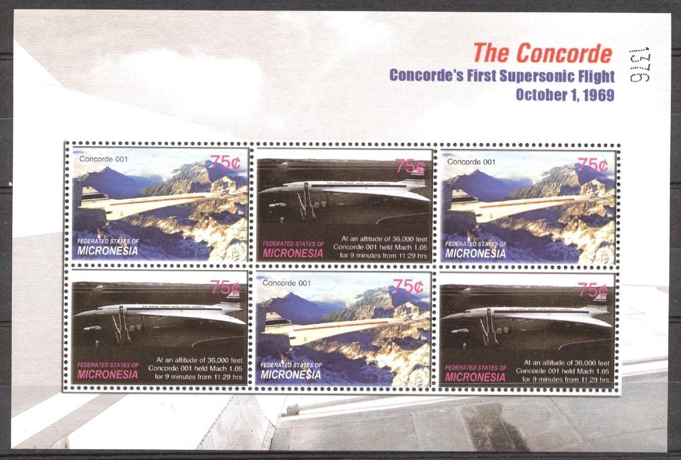 Stamps with Aircraft, Concorde from Micronesia (image for product #273818)