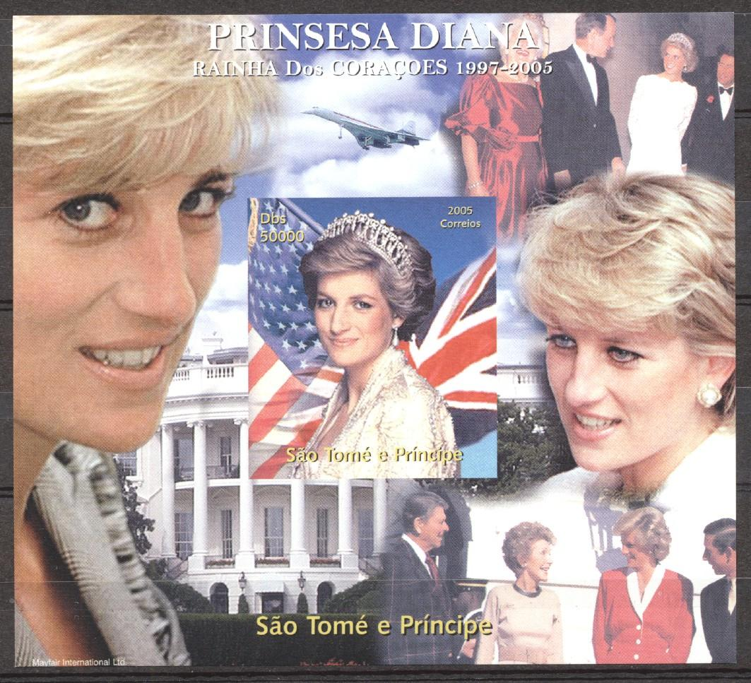 Stamps with Aircraft, Concorde, Diana from Sao Tome e Principe (image for product #273901)