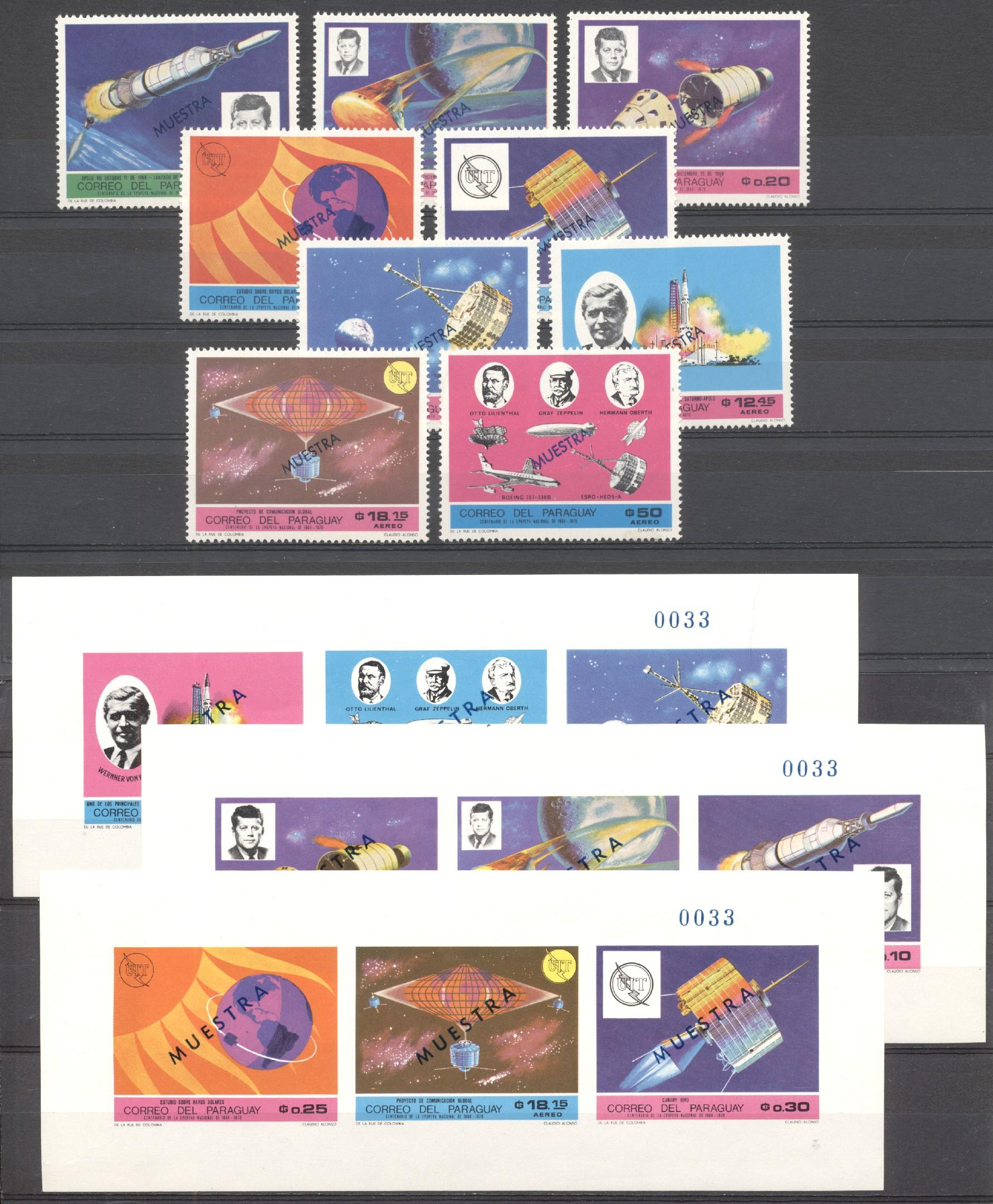 Stamps with Space, Telecommunication, UIT / ITU from Paraguay (image for product #275582)