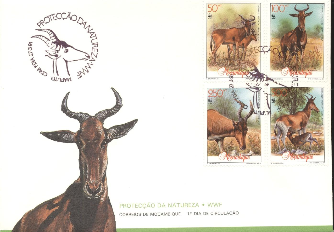 Stamps with WWF, Antilope from Mozambique (image for product #276546)