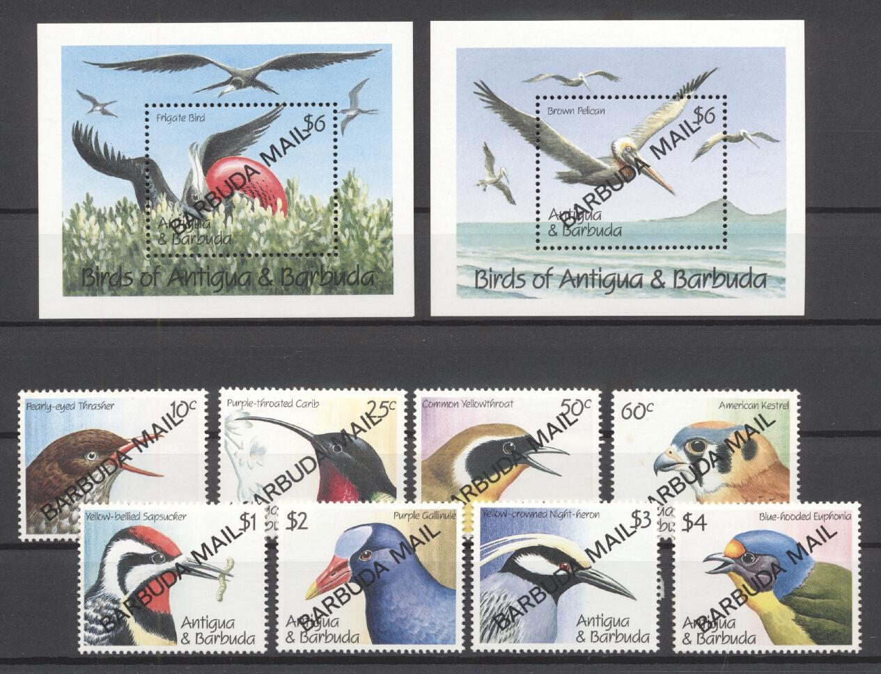 Stamps with Bird from Barbuda (image for product #277841)