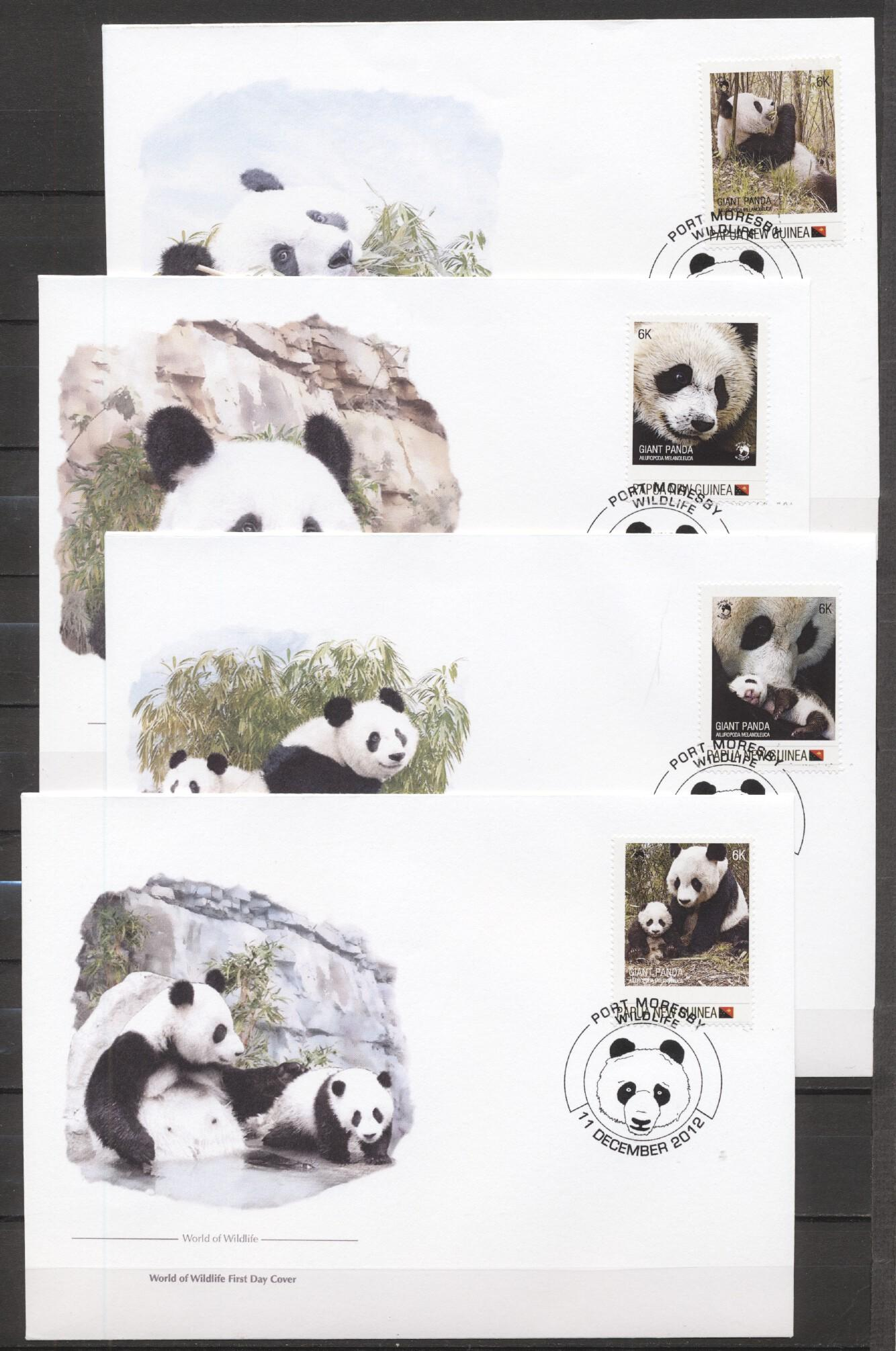 Stamps with WWF, Giantpanda from Papua New Guinea (image for product #283754)