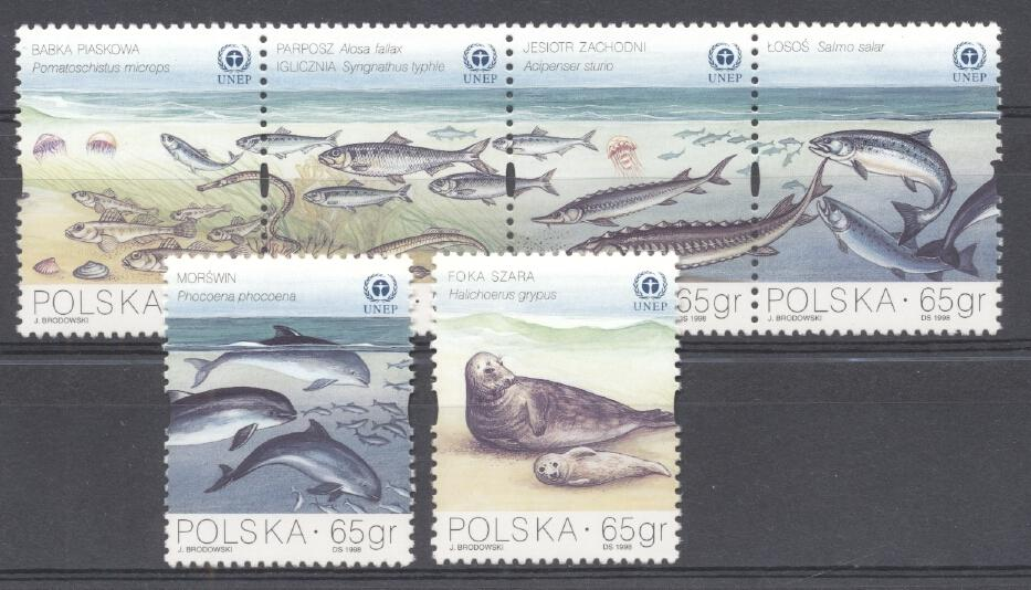 Stamps with Fish from Poland (image for product #287427)