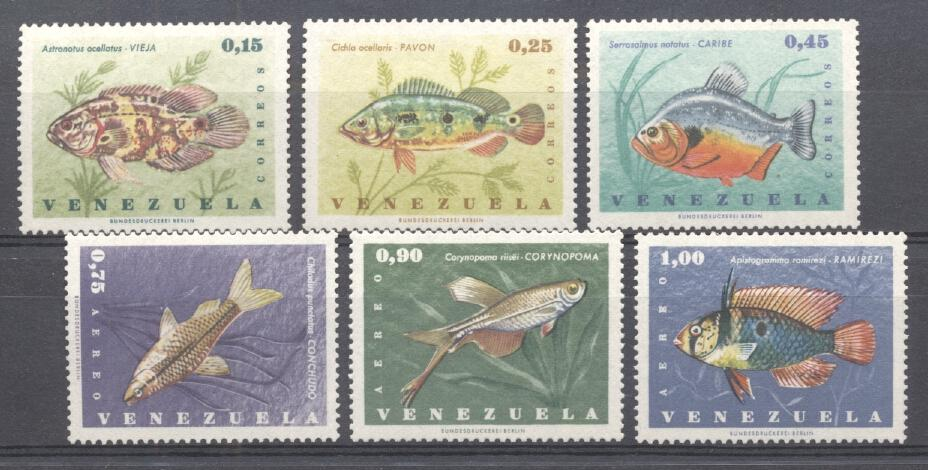 Stamps with Fish from Venezuela (image for product #287528)