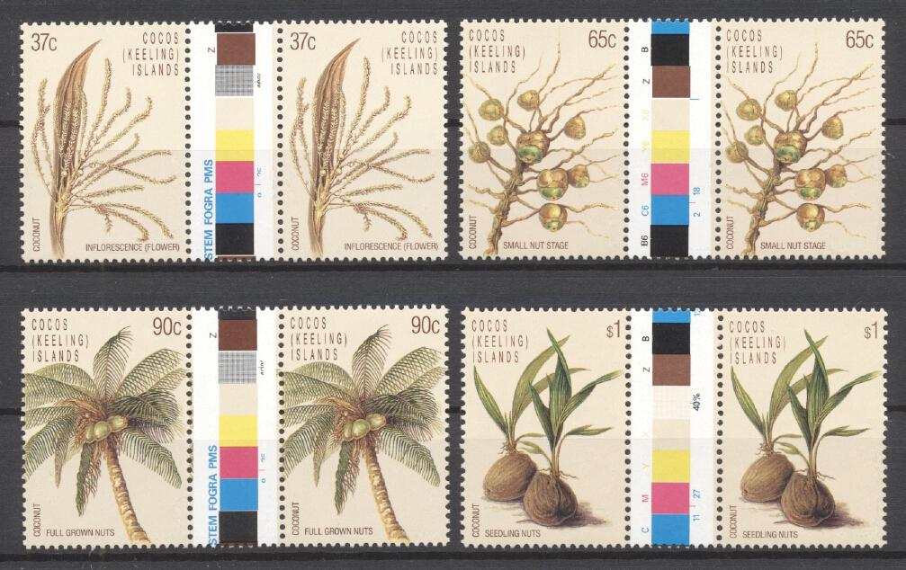 Stamps with Flowers from Cocos (Keeling) Islands (image for product #289011)